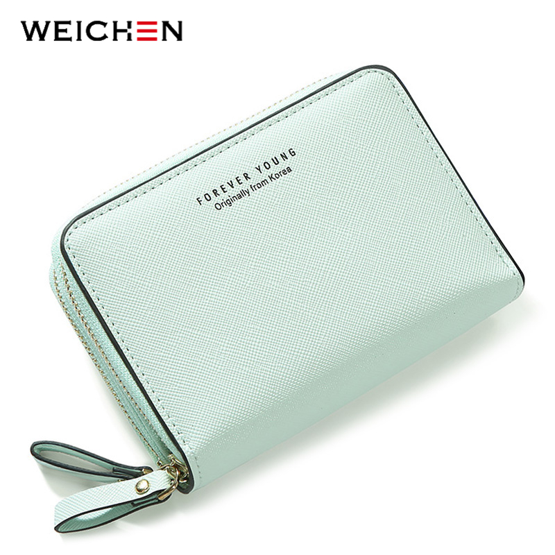 WEICHEN Double Zipper Fashion Women Wallets High Quality Female Wallet Card Holder Coin Pocket Pu Leather Ladies Purse Carteira brand wallet fashion women wallet double zipper female clutch purse froasted pu leather money case coin pocket card holder
