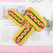 c61a136e7f Hot Dog Hamburger Case for iPhone 6 6s 7 8 Plus X XR XS Max 5
