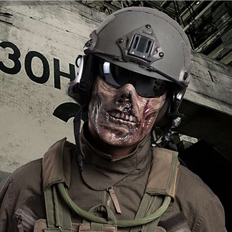 M05 Paintball Airsoft Mask Half Face Skull Mask Military