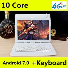 2019   10 inch 4G LTE Tablets Deca Core Android 7.0 RAM 4GB ROM 128GB Dual SIM Cards 1920*1200 IPS  10.1 inch Tablet PCs+Gifs