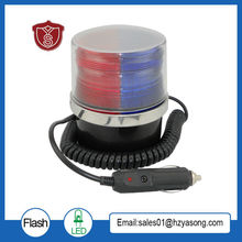 LTD-5092 Предупреждение светильник полицейскую машину светодиодный Предупреждение светильник круглый 5 Вт Строб красного цвета/синие мигающие завод DC12V/DC24V