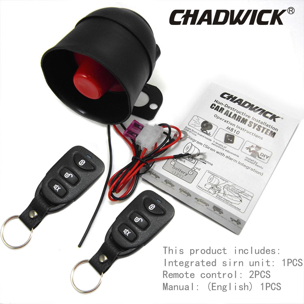 One Way Car Alarm System Easy To Install Vibration Aloud Diy How On Accessories Adjustable Sensitivity 12v Dc Chadwick 8113 In Burglar From