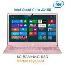 "P9-11 Rose gold 8G RAM 64G SSD Intel Celeron J3455 24 Gaming laptop notebook desktop computer with Backlit keyboard"""
