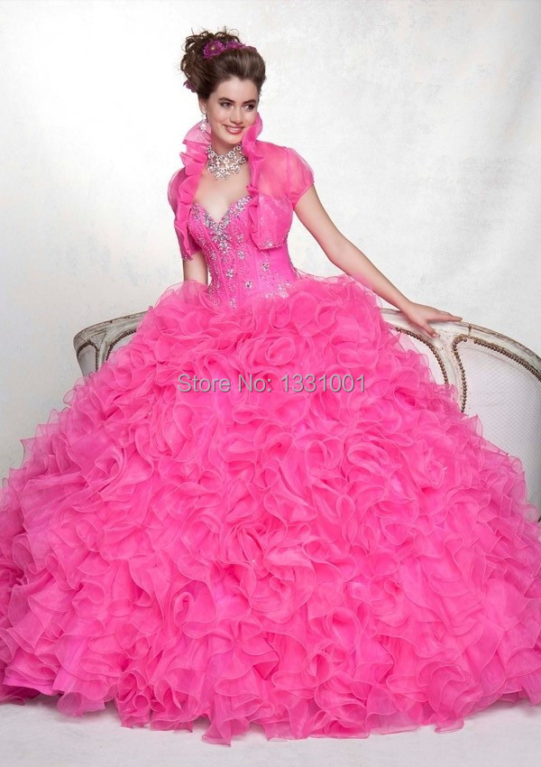 Popular Pink Puffy Quinceanera Dresses-Buy Cheap Pink Puffy ...