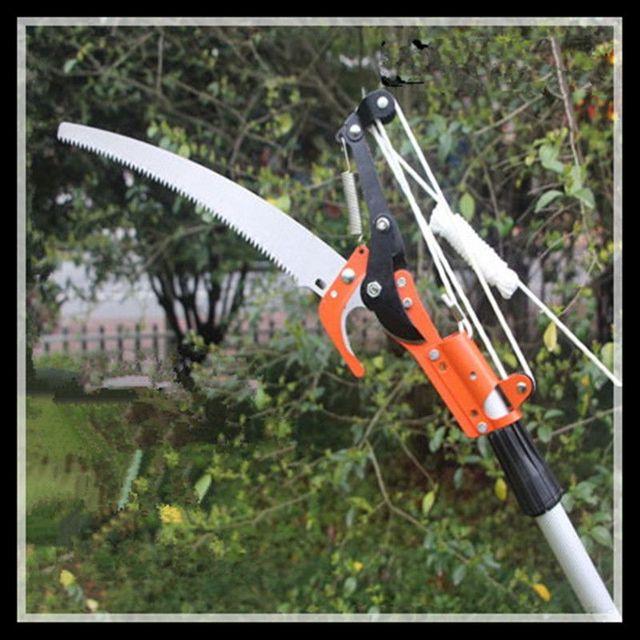 Tres poleas de alta altitud tijeras de podar herramientas - Tijeras para podar ...