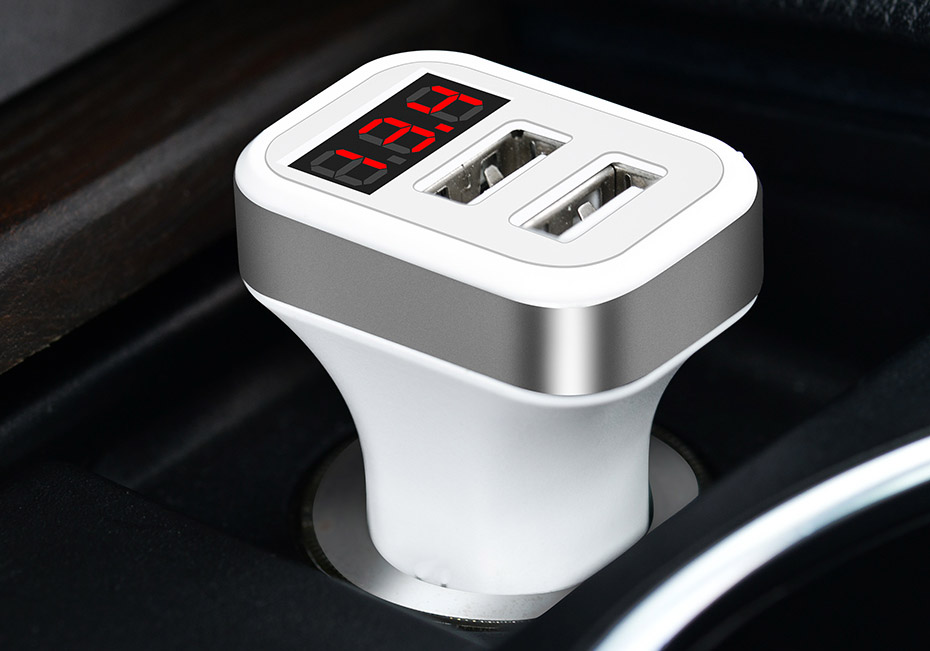 2/3 USB 2.1A /1A car-styling Car Charger