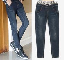 Новый 2017 мода джинсы большой размер женщин, известные Дизайнерские Джинсы, высокое Качество Тощий Стрейч Джинсовые Женские Джинсы для женщин Бренд