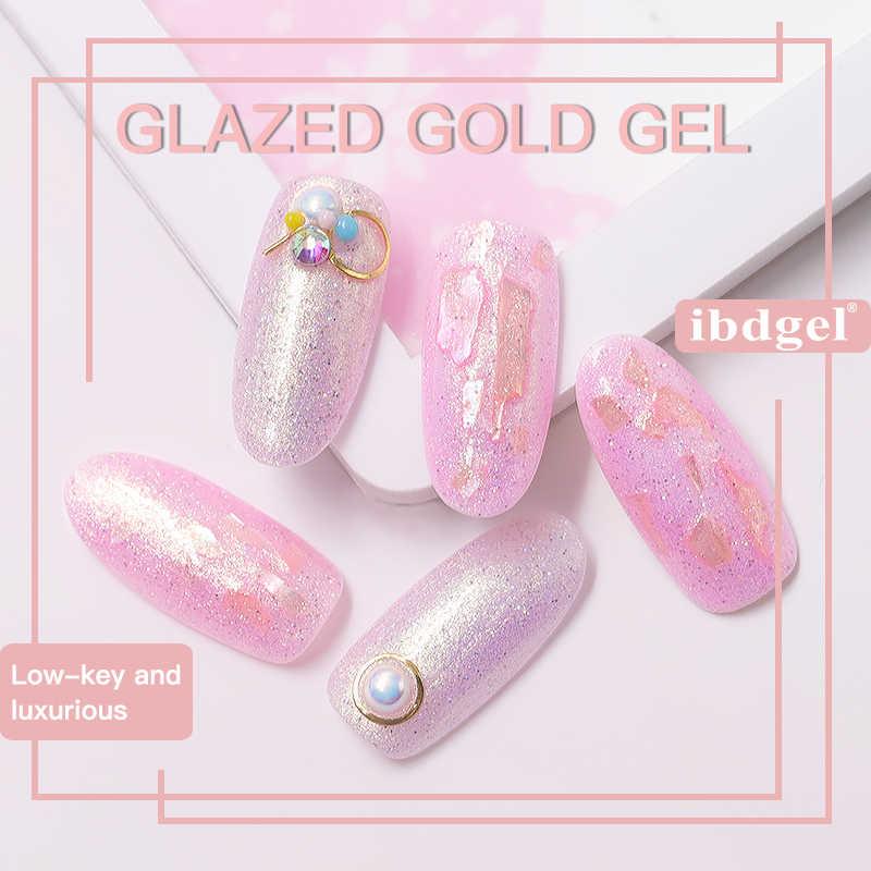 Ibdgel Gel 1 PC 15 Ml Seni Mengkilap Gold Series Kecantikan Warna-warni Gel Nail Polish Rendam Off UV Kuku gel Polandia