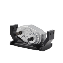 RC Metal Gearbox Transfer Case with 73mm Mount Holder for 1:10 RC Car SCX10 RC4WD Gelande II D90 D110 RC Crawler Moving Gearbox