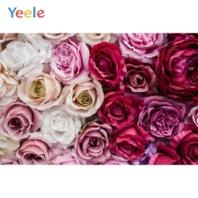 Yeele Blossom Rose White Red Flowers Wall Party Personalized Photography Backdrops Photographic Backgrounds For Photos Studio