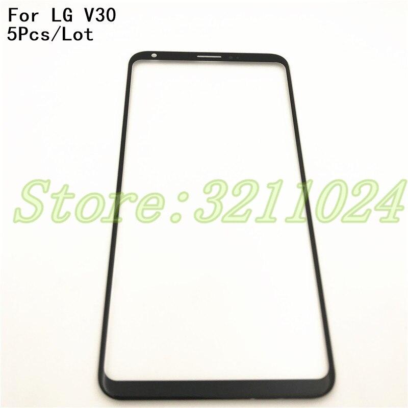 5 шт./лот 6,0 ''спереди Экран внешний Стекло Touch внешнее покрытие Панель объектив для LG V30 H930 H931 H932 VS996 US998 AS998 Touch Экран