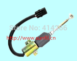 ФОТО Fuel Shutdown Solenoid  or  Diesel Engine 6112 Replace of  232C-1115030 24V (3pcs/lot) free shipping ( fedex ,ups ,tnt.dhl )