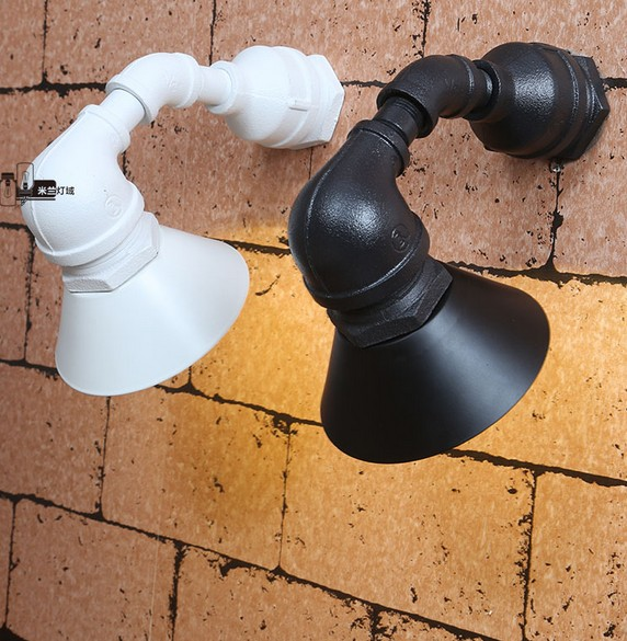 Loft Style Metal Water Pipe Lamp Wall Sconces LED Wall Light Fixtures For Home Vintage Industrial Lighting Lamparas iron modern led wall lamp fabric lampshade bedside light concise wall sconces fixtures for home lightings lamparas de pared