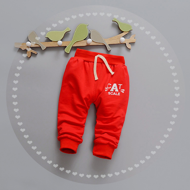 Letter Baby Pants Cotton Boys Girls Trousers Spring Autumn Boys Pants Elastic Waist Girls Trousers 2017 Baby Clothing 9-24Months (18)