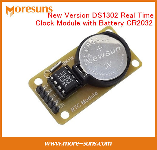Free Ship 2pcs lot New DS1302 Real Time Clock Module with Battery CR2032 power down travel