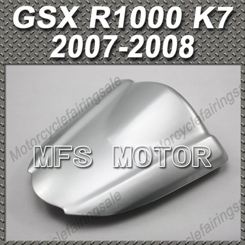 Motorcycle For GSX R1000 K7 Motorcycle Rear Pillion All Silver Injection ABS Seat Cowl Cover For Suzuki GSX R1000 K7 2007 2008