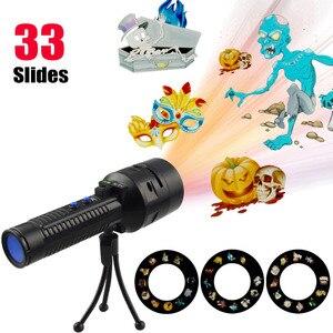 Image 2 - Diapositives noël projecteur Laser lumières Flash lumière lampe pour pâques fête danniversaire vacances noël décoration avec 18650