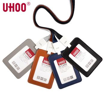 UHOO 6810 pionowe PU skórzany uchwyt na karty identyfikacyjne skórzane etui na karty posiadacz karty etui na karty kredytowe z smycz tanie i dobre opinie 6810 6722 Posiadacza karty identyfikacyjnej Leather Available 1 Piece 60 pieces 76*110mm 54*85mm