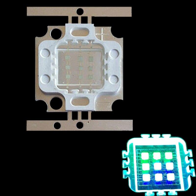 10W Cyan 490NM 4 GREEN + 5 Royal blue Hybrid High Power Multichip LED Intergrated Light Source for Aquarium Plant Grow