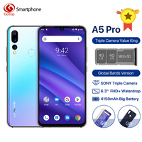 UMIDIGI A5 PRO Android 9.0 Cell Phone 16MP Triple Camera Octa Core 6.3' FHD+ Waterdrop Screen 4150mAh 4GB+32GB 4G Mobile Phone