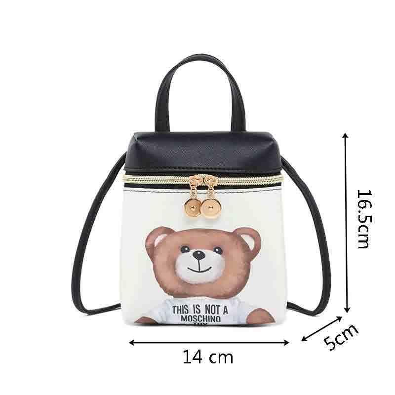 La MaxZa Dos Desenhos Animados Das Mulheres Sacos Do Mensageiro Saco Corpo Cruz Alta Qualidade PU de Couro Mini Bolsa de Ombro Urso Bolsas Bolsas Feminina