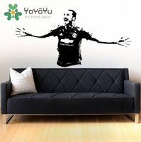 Wall Decal Zlatan Ibrahimovic Soccer Player Manchester United Wall Decal Sticker Art Zlatan DIY Teen Boys