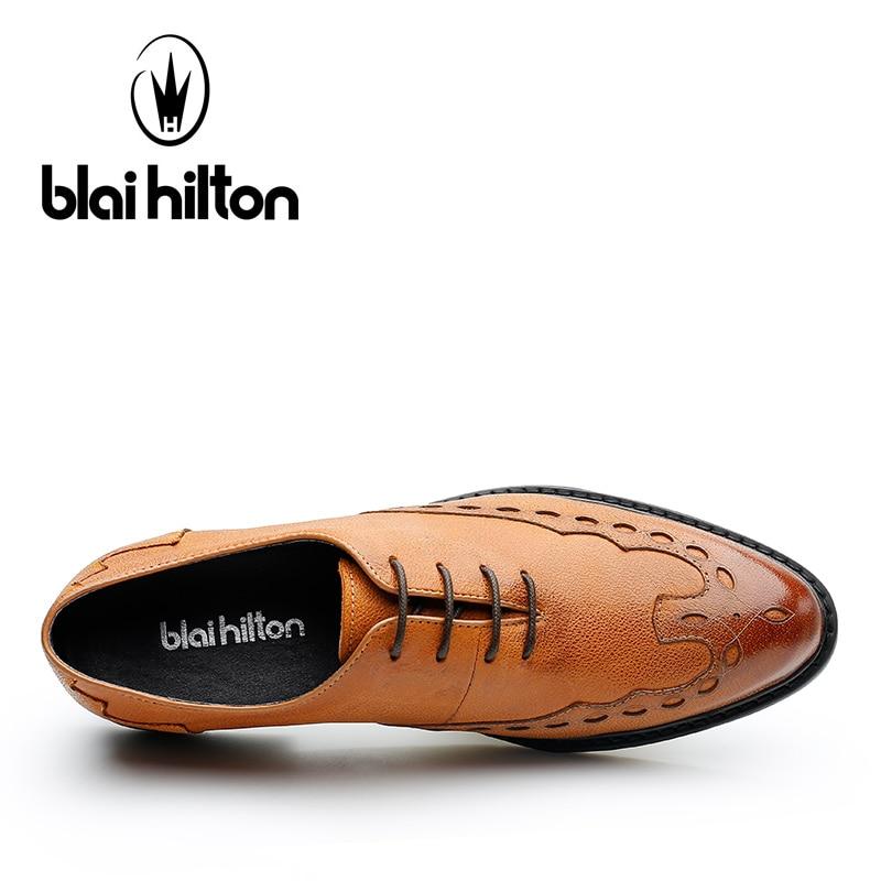 Brown Zapatos Cuero Negocio 2017 Transpirable Blai Genuino Hilton Los Yellow De Moda cómodo Hombre Hombres black f6fBwW