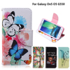 For coque Samsung On5 O5 Case for fundas Samsung Galaxy On5 O5 G550 Cover Case G550 G5500 SM-G550 5 inch + Stand Card Holder
