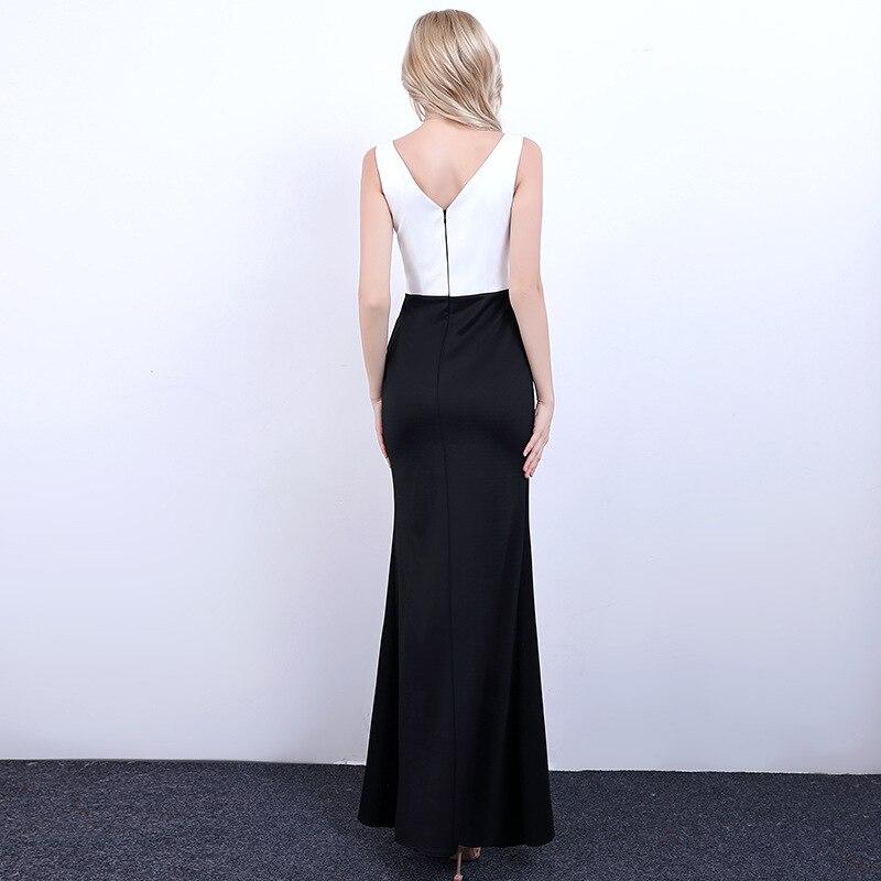 It s YiiYa Evening Dress 2018 Crystal Beading Low V-neck Zipper Sleeveless  Split Trumpet Dinner Gowns LX1322 robe de soiree.  HTB1MyqcPXXXXXbRaXXXq6xXFXXXa 065d1b007613
