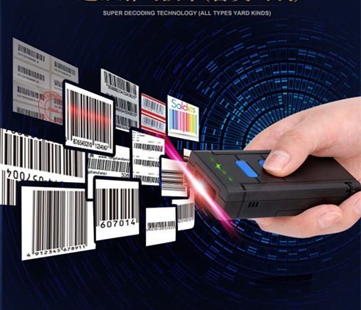 2016 new Portable Wireless A one-dimensional red light CCD Bluetooth Barcode Scanner for Android Mobile Phone Tablets Windows PC image