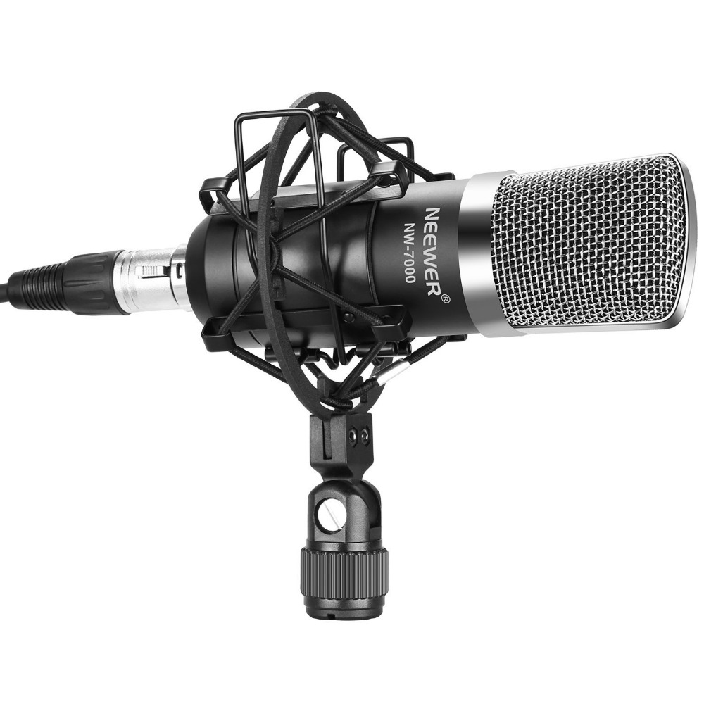 neewer nw 7000 professional studio recording condenser microphone set including microphone shock. Black Bedroom Furniture Sets. Home Design Ideas