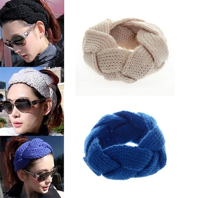 2 unids moda de punto turbante Bandas para la cabeza para las ...