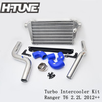 H TUNE Aluminum Polished Turbo Diesel Intercooler Kits for Ranger T6 2.2L 2009 2016