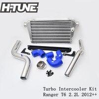 H TUNE Aluminum Polished Turbo Diesel Intercooler Kits for Ranger T6 2.2L 2009 2016
