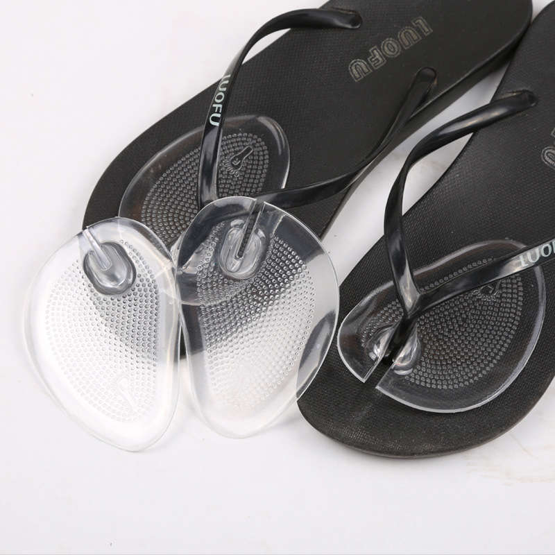 1Pair ضد لغزش شفاف سیلیکون پیشانی کفش ، کفی مراقبت از پا ، تسکین درد ، کوسن پاشنه بلند محافظت از پدهای مراقبت از پا