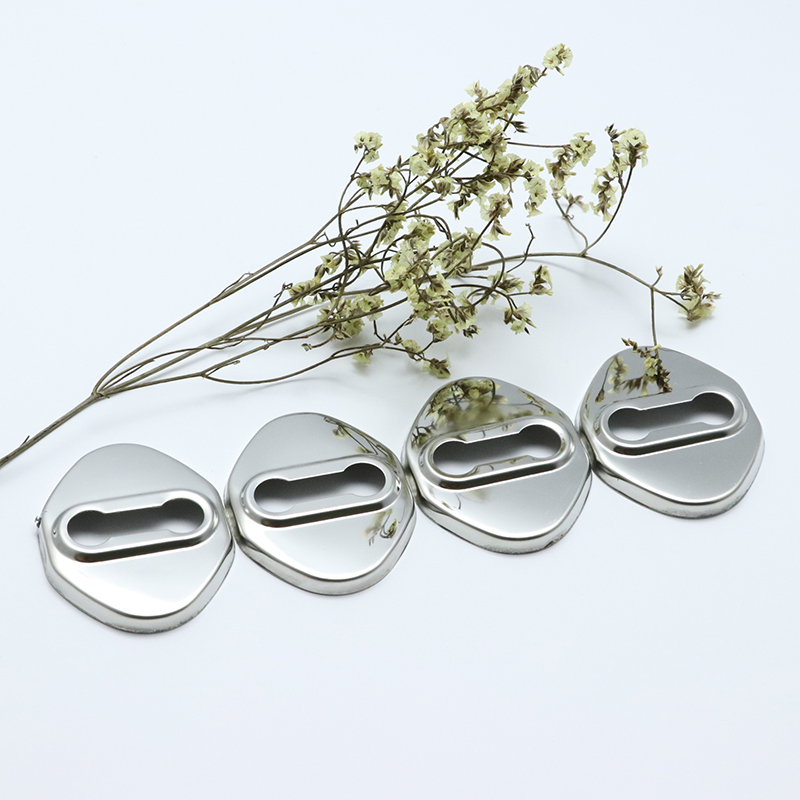 Stainless Steel Door Lock Buckle Protective Cover for <font><b>toyota</b></font> Aqua corolla E130 E140 E150 E160 E170 Prius Avgo <font><b>Auris</b></font> car-styling image