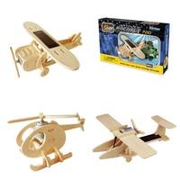Robotime 11 видов Diy солнечной энергии работает игрушка самолет 3D деревянная собраны модели Строительство игрушки подарок для детей и взрослых ...