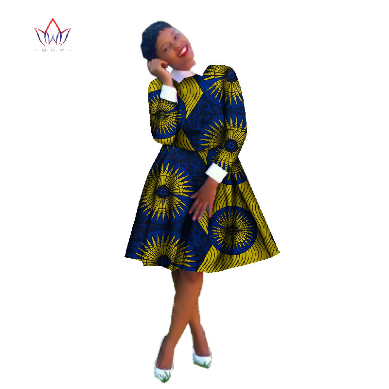 fb48dc94a0688 2019 جديد الخريف أفريقيا فساتين للنساء بازان طويلة الأكمام الملابس  الأفريقية Dashiki الحلو التقليدي الأفريقي الملابس WY338