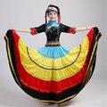 Hmong Miao trajes de baile swing grande Yi Miao Dong ropa puesta en escena ropa minoría china conjunto falda de la extensión