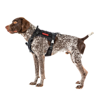 OneTigris Dog Harness Vest for Walking Hiking Hunting Tactical Military Water Resistant MOLLE Training Harness for Service Dog
