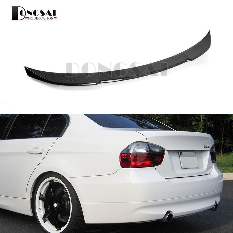 E90 Carbon Fiber Rear Spoiler for BMW 3 Series Tuning Car Trunk Wings 4-door Sedan 316i 318i 320i 325i 328i 330i 335i 2005-2011 dhs power g13 pg13 pg 13 pg 13 blade with dhs hurricane2 hurricane3 rubbers for a racket shakehandlong handle fl