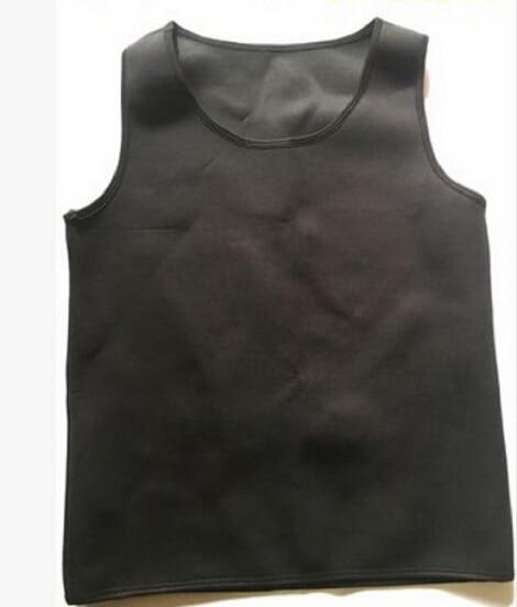 Black Neoprene Weight Loss Mens Body Shapers Vest Slimming Fitness Waist Tops Sweat Shapwear Shirts Hot Plus Size M-4XL 5