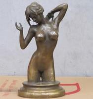 """11 """"Batı Sanat Bronz heykel için Güzel seksi Büstü Çıplak güzellik heykeli Statü ve Heykelleri Ev ve Bahçe -"""