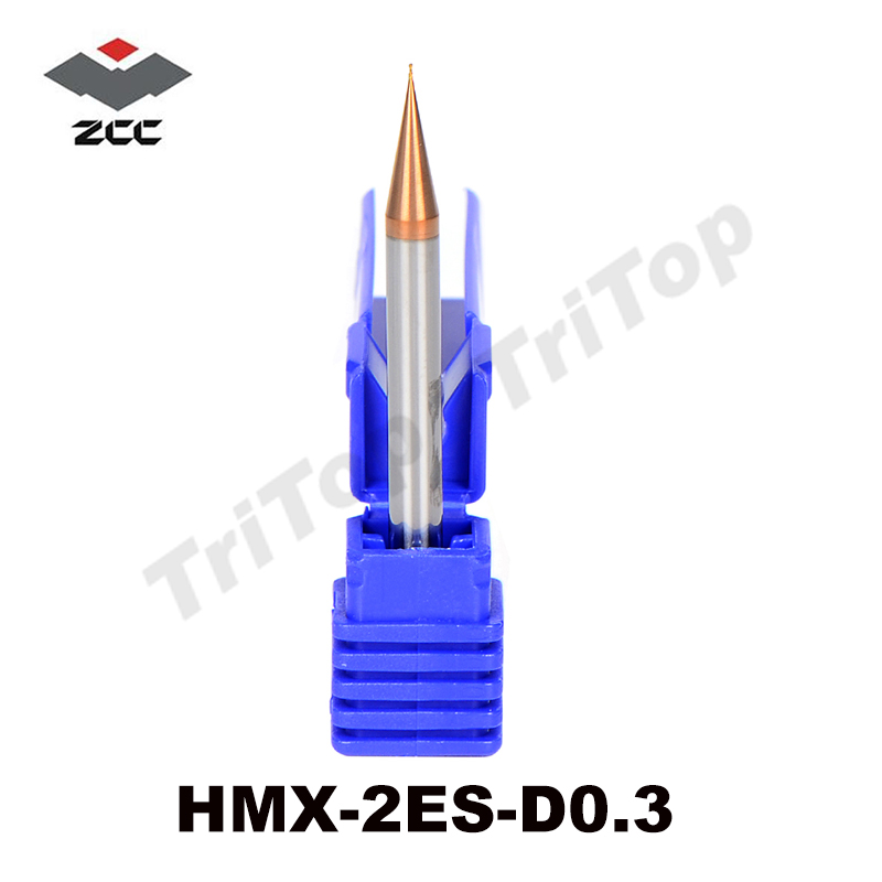 2pcs/lot HRC 68 HM/HMX-2ES-D0.3 solid tungsten carbide 2 flute flattened end mill with straight shank cobalt cnc milling tool zcc ct hm hmx 2efp d12 0 solid carbide 2 flute flattened end mills with long straight shank and short cutting edge