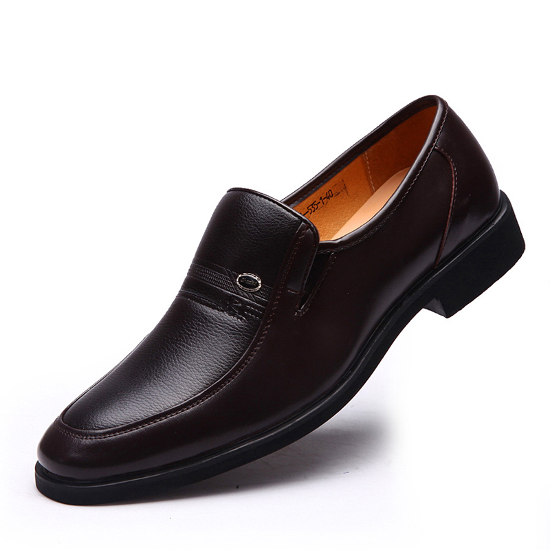 2016 high quality genuine leather shoes toe