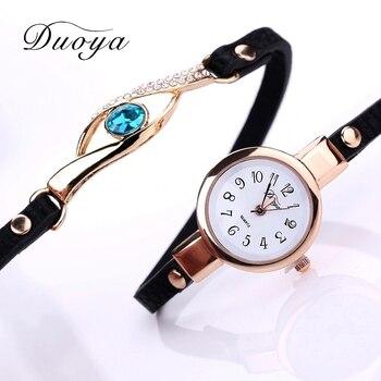 Duoya Gemstone Women Quartz Bracelet Wristwatches 1