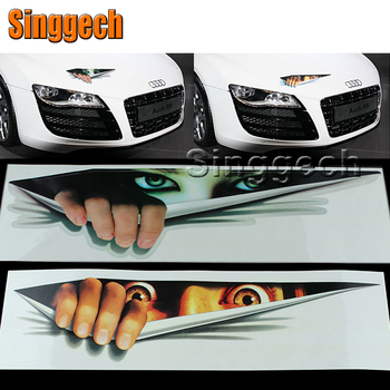 3D Eyes Peeking Monster Car stickers For BMW E46 E39 E90 E60 E36 F30 F10 E34 X5 E53 E30 F20 E92 E87 M3 M4 M5 X5 X6 image
