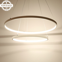 Living Dining Room LED Lustre Pendant Lamp Modern Decorative 3 Circle Rings LED Pendant Lights For