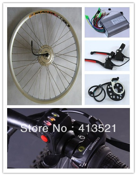 """Promotion!!!high power 26"""" 300w 36v ebike conversion kits  (26"""" front wheel)"""