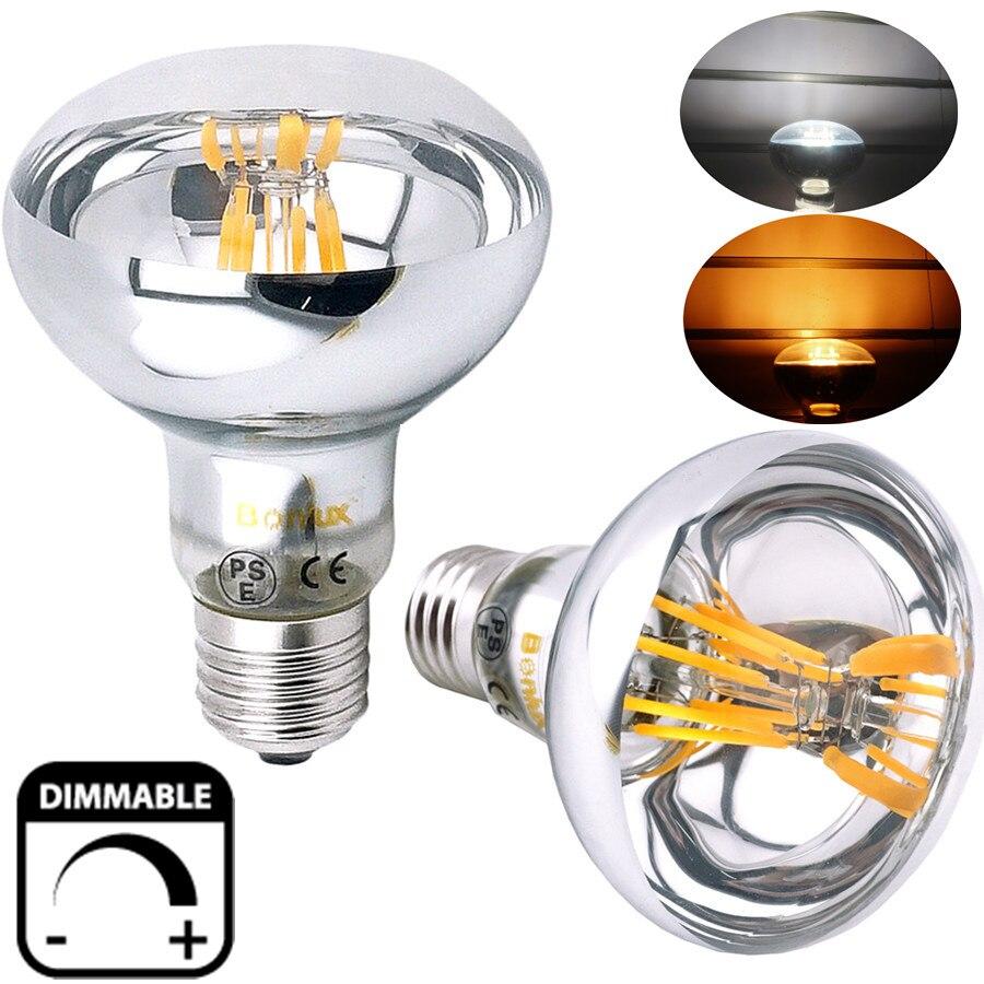Dimmable R80 ES <font><b>LED</b></font> Filament Reflector Bulb 8W, 60W Replacement Edison Screw E26 <font><b>E27</b></font> R80 <font><b>LED</b></font> Spot Light for Commercial Lighting